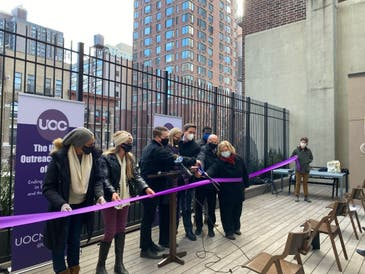 A new Urban Outreach Center location opened in the Upper East Side Thursday, offering food and assistance to those in need.
