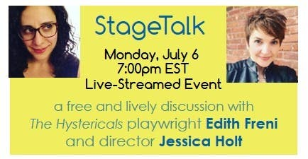 the hystericals stagetalk 7 6 event   01133145833.'