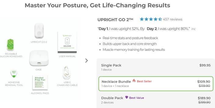 Upright Go posture corrector