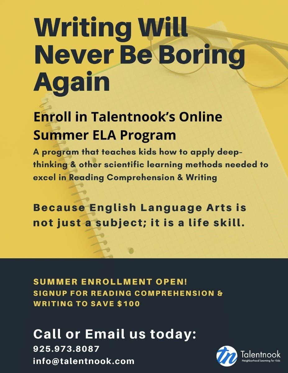 - Jun 15 Advanced Reading Comprehension & Writing Program
