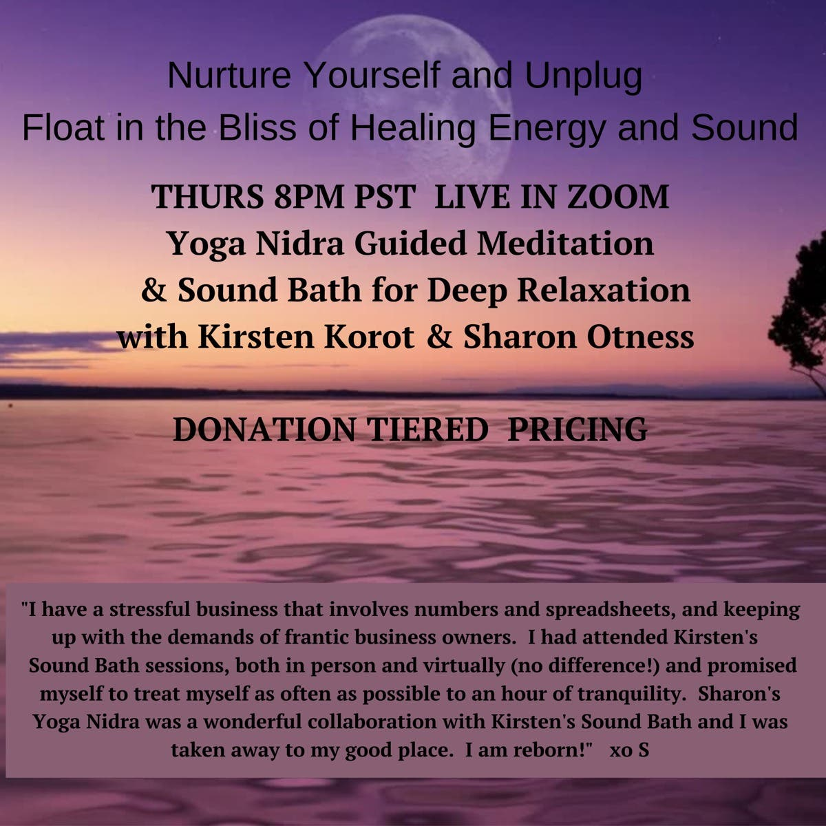 Aug 6 Yoga Nidra Guided Meditation Sound Bath For Deep Relaxation Sherman Oaks Ca Patch