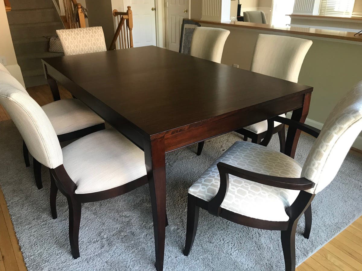 Ethan Allen Dining Room Table And Six Chairs 2000 Mclean Va Patch