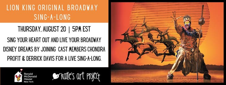 RMH-NY - The Lion King Broadway Sing-a-Long