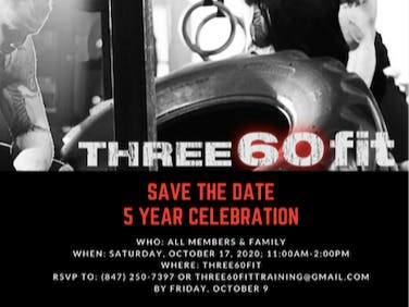 Join us! Three60fit Celebrates Five Years!