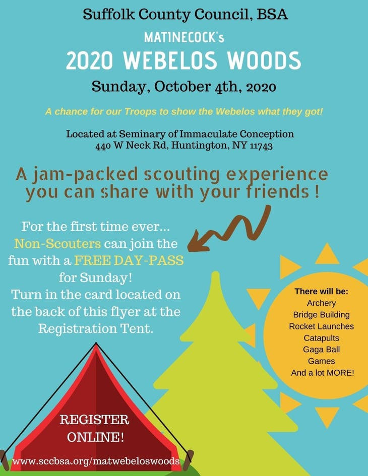Free Cub Scout and Boy Scout Event for boys and girls ages 5- 10