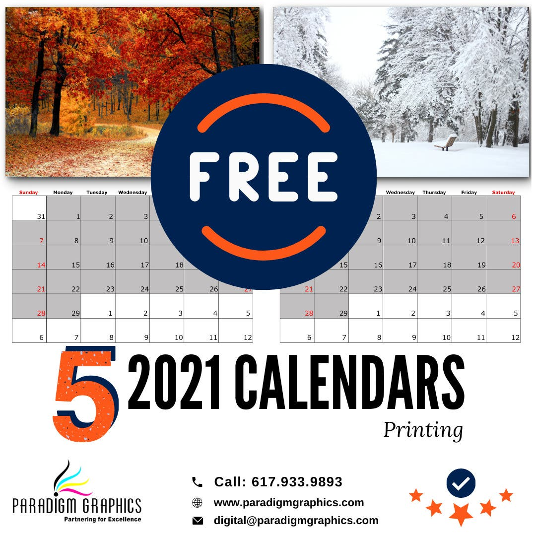 Local Free Stuff: We are giving away 5 2021 calendars for FREE
