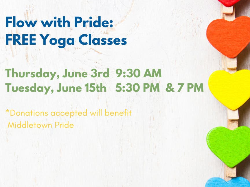 Flow with Pride: Free Yoga to Benefit Middletown Pride