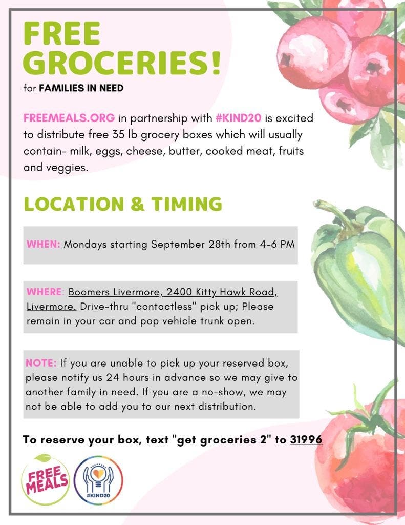 Free boxed groceries!
