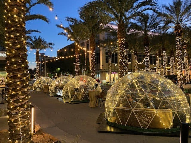Dine In A Dome At Scottsdale Quarter's Culinary Drop Out