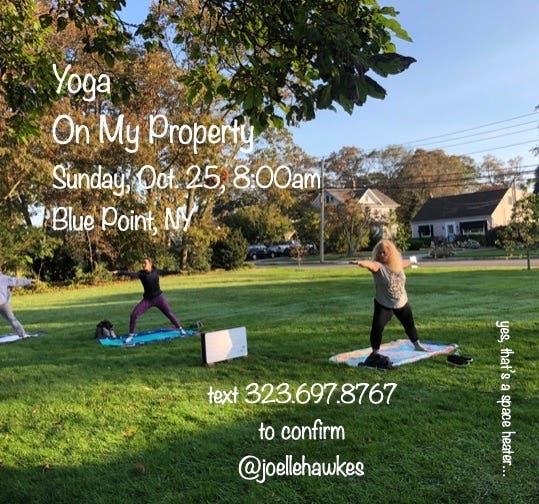 Yoga On My Property - Sun. 8:00am (Blue Point)