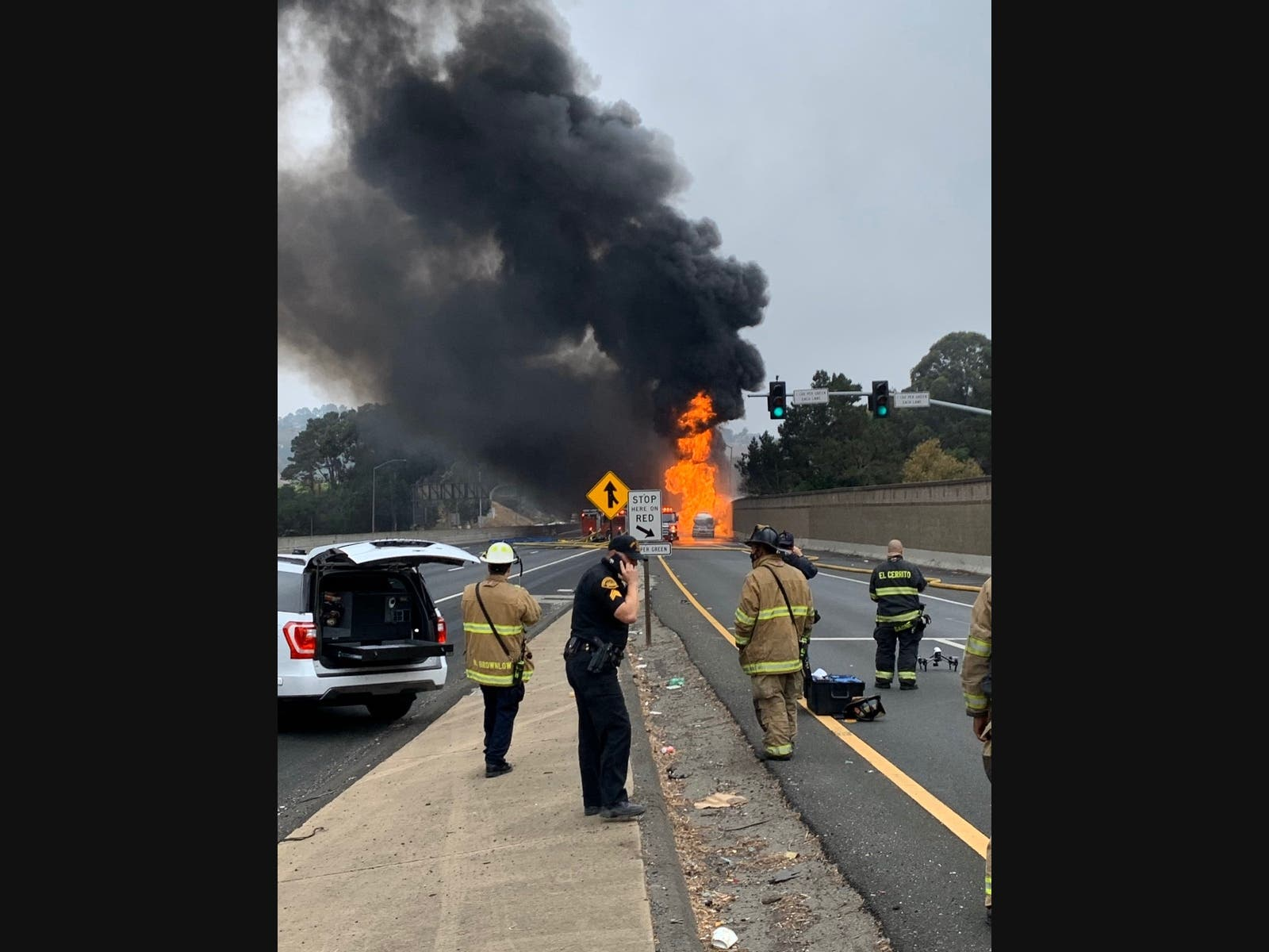 Richmond Tanker Fire Closes I-80; Prompts Evacuations