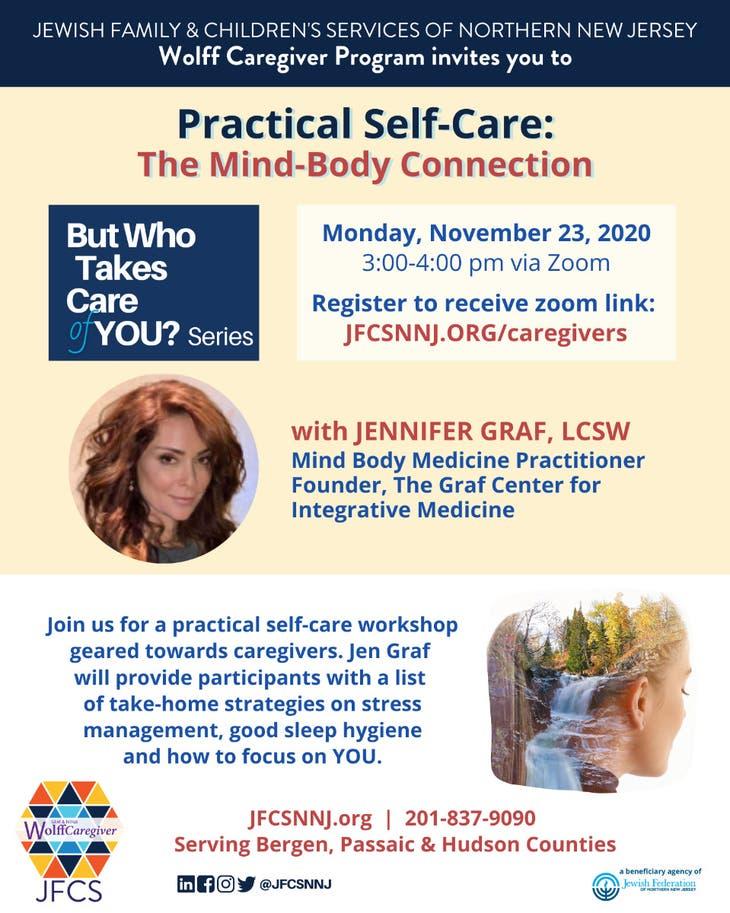 "JFCS Wolff Caregiver: ""Practical Self-Care"" – Nov. 23, 3pm"