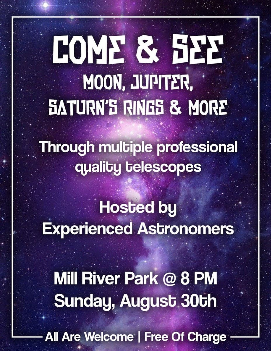 Local Event: FREE - Moon, Mars, Jupiter, & Saturn through Telescopes