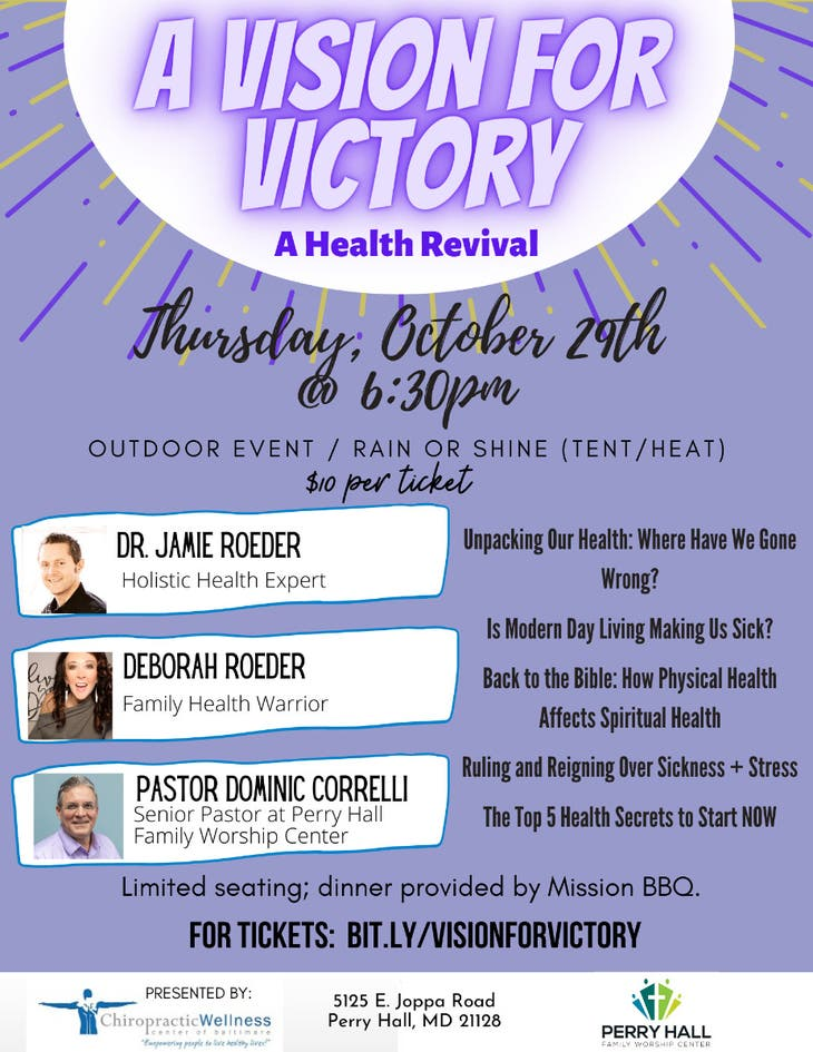 A Vision for Victory: A Health Revival!