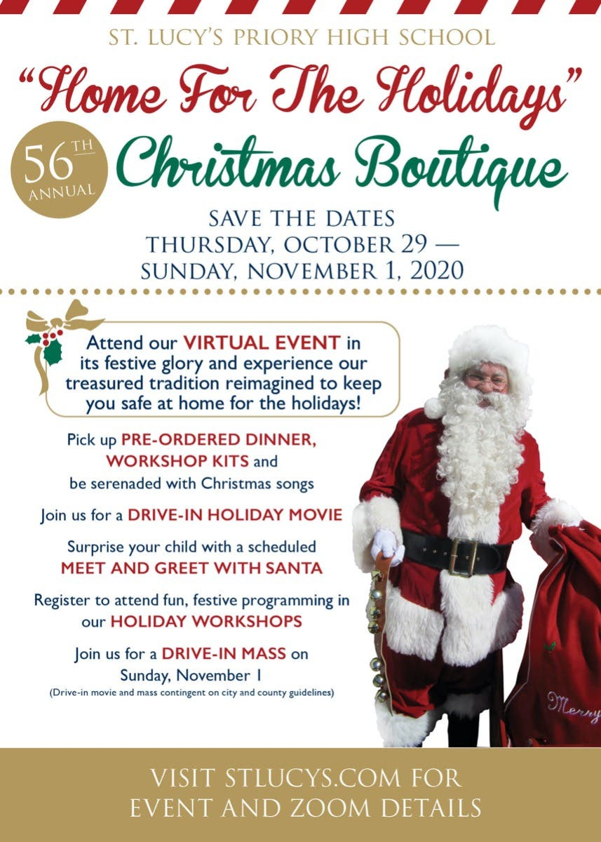 Oct 29 St Lucy S Home For The Holidays Christmas Boutique Claremont Ca Patch