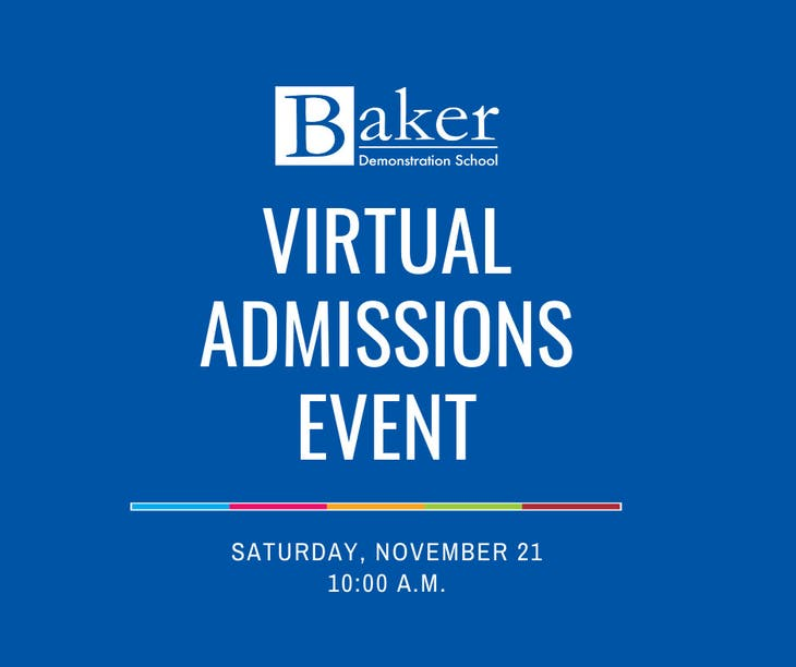 Baker Demonstration School Virtual Admission Coffee Chat