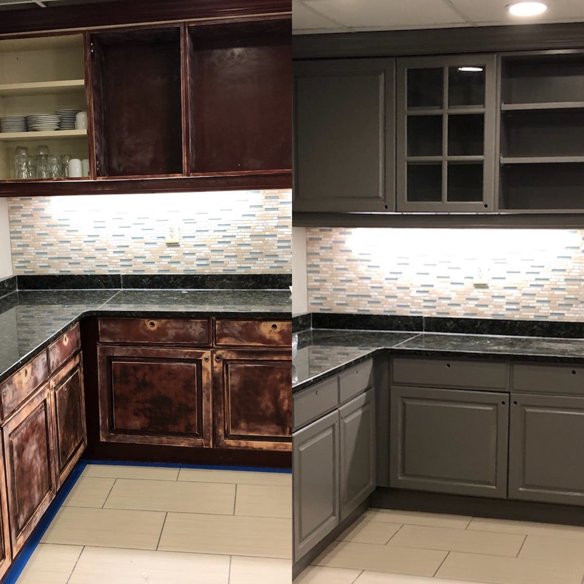 Kitchen Cabinet Refinishing And Custom Color Painting Long Island Ny Patch