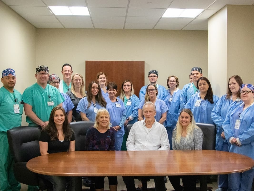 Former Sheriff Visits the Silver Cross Team that Saved His Life