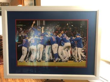 Framed Cubs World Series Photo
