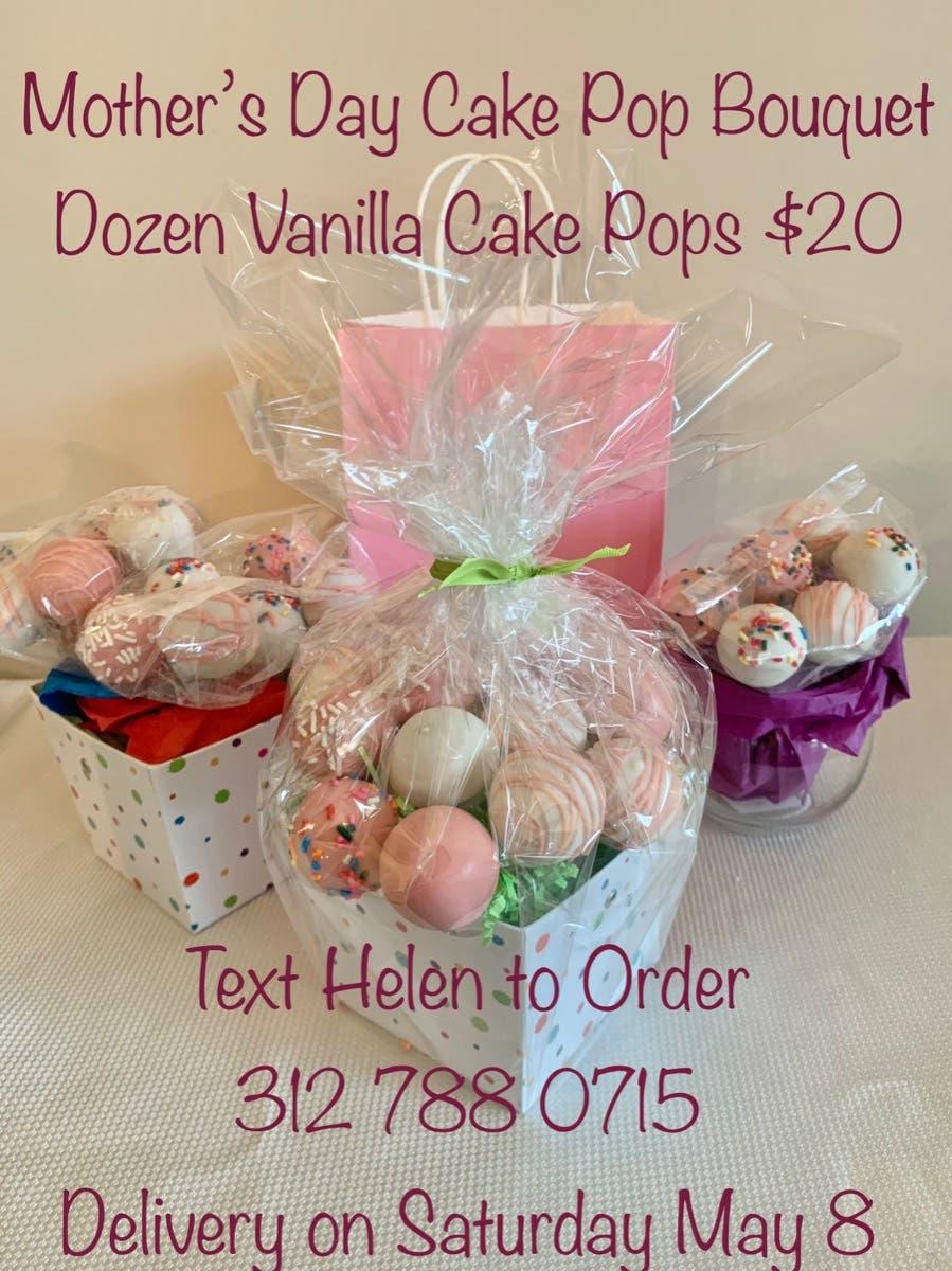 A Mother's Day cake pop Bouquet - Dozen vanilla cake pops