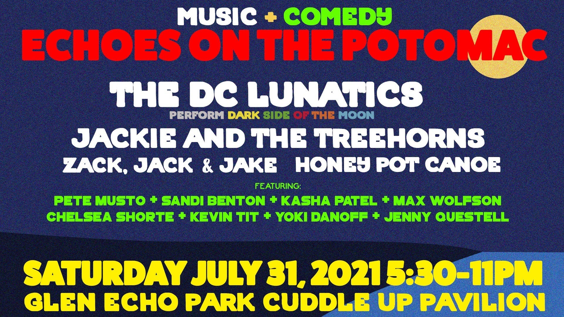 Echoes On The Potomac (FREE Live Music & Comedy)