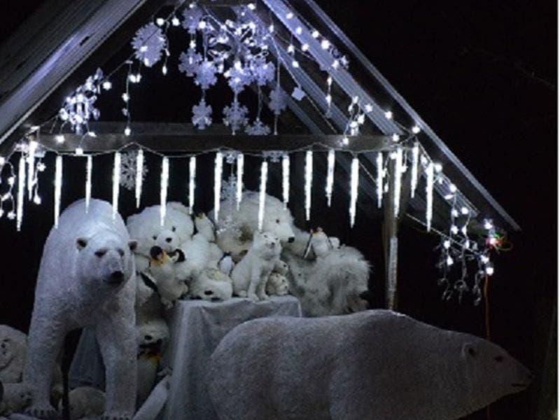 christmas lights display walk to the north pole 2018