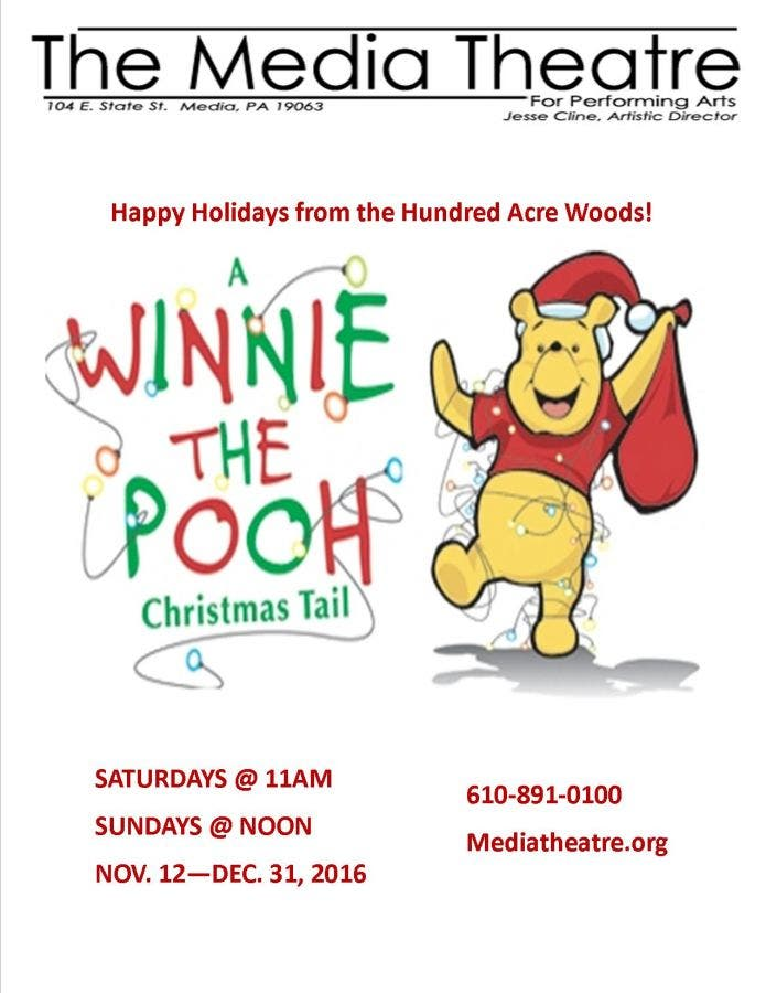 Winnie The Pooh Christmas.The Media Theatre Has Winnie The Pooh S Christmas Tail