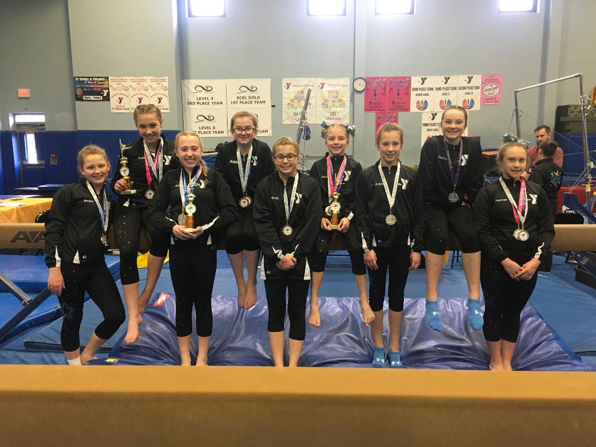 Level 4-9 Quakertown gymnasts from YMCA of Bucks County
