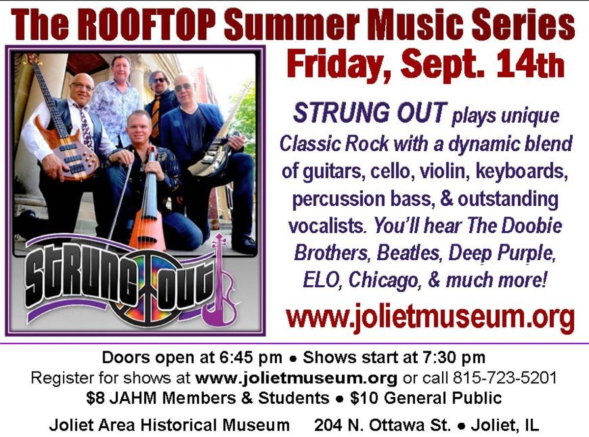 Strung Out band Live on the Joliet Museum Rooftop | Tinley Park, IL