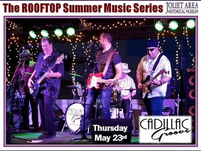 Cadillac Groove live on Museums Outdoor Rooftop
