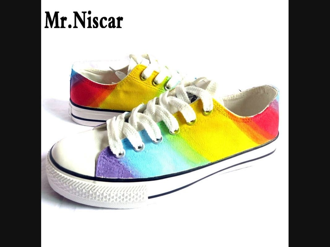 Rainbow Shoes Represent Safety