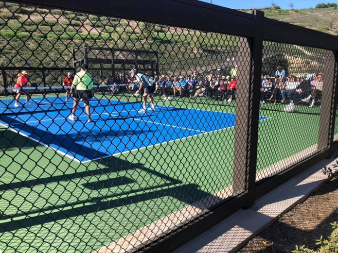 Residents and guests from neighboring communities gathered at Reata Glen in February for a Pickleball Expo led by National Pickleball Gold Medalist Bill Smith.