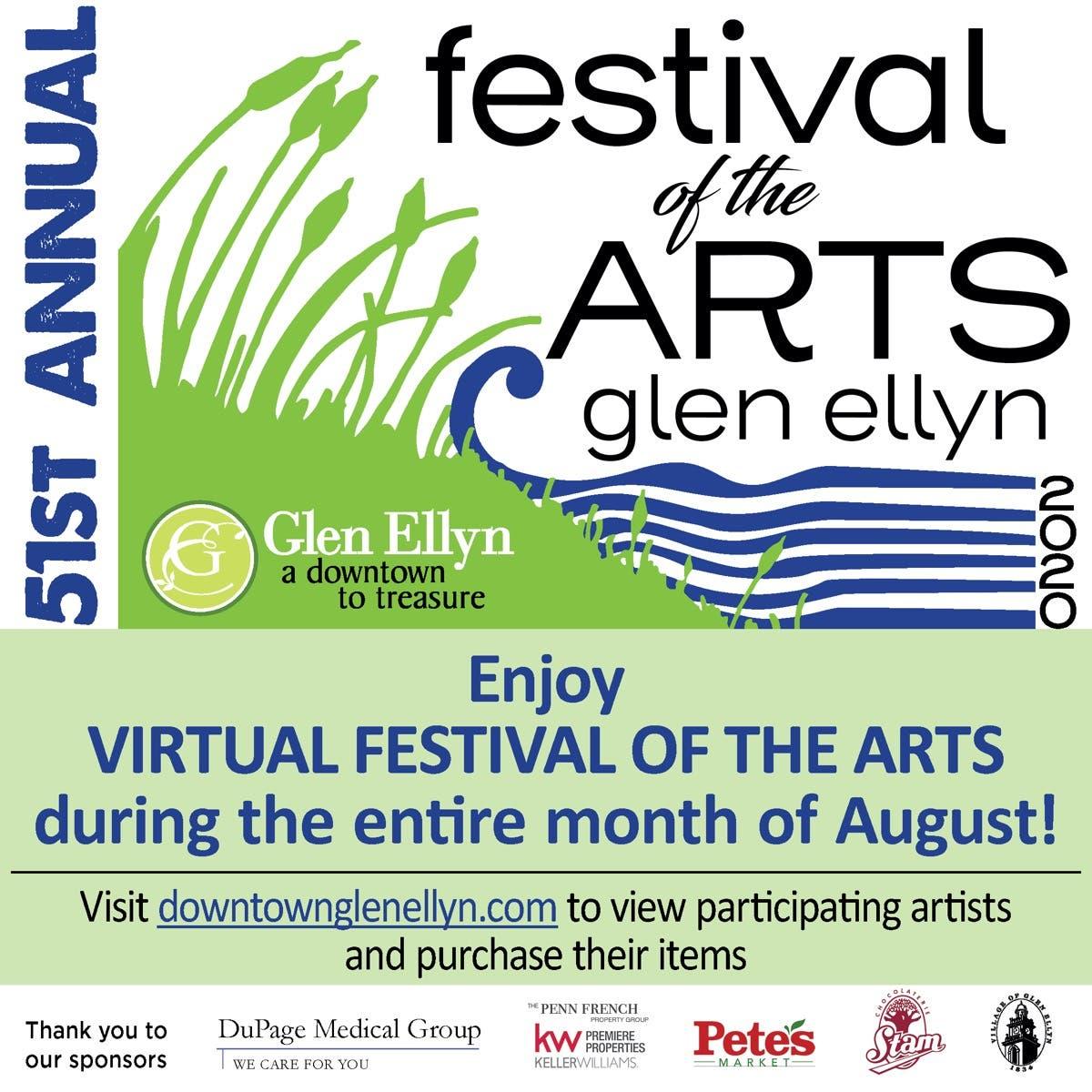 Aug 2 Celebrate Glen Ellyn S 51st Festival Of The Arts Virtually Glen Ellyn Il Patch