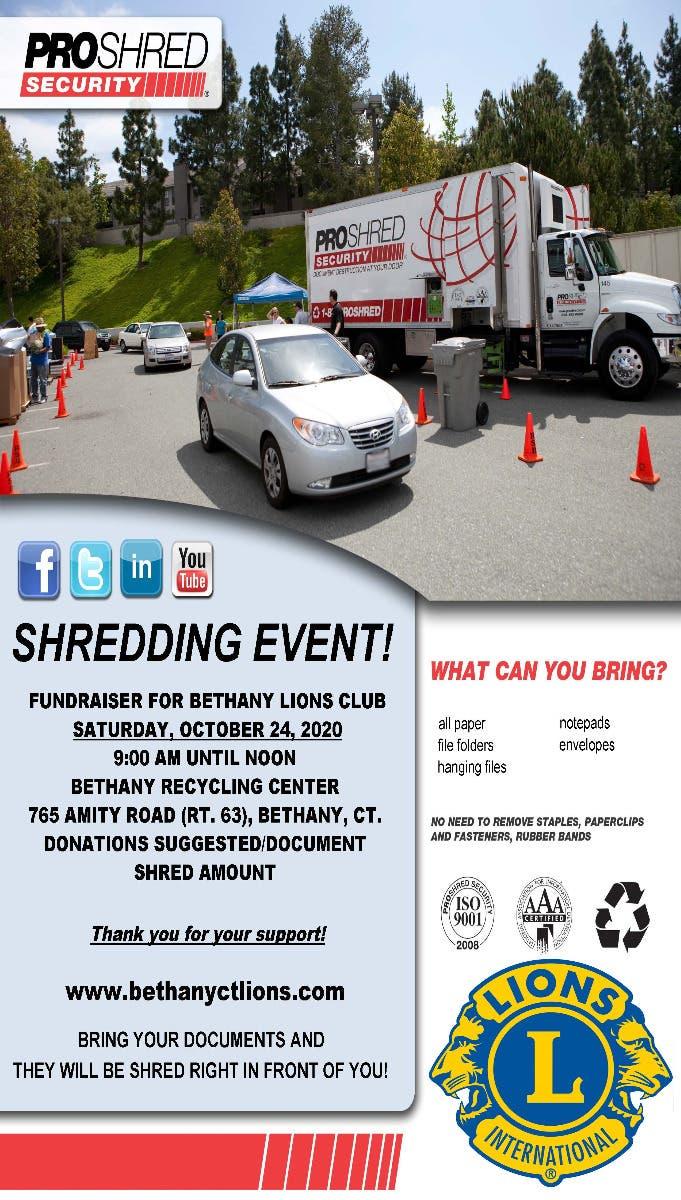 Shredding Event - Bethany Lions Club