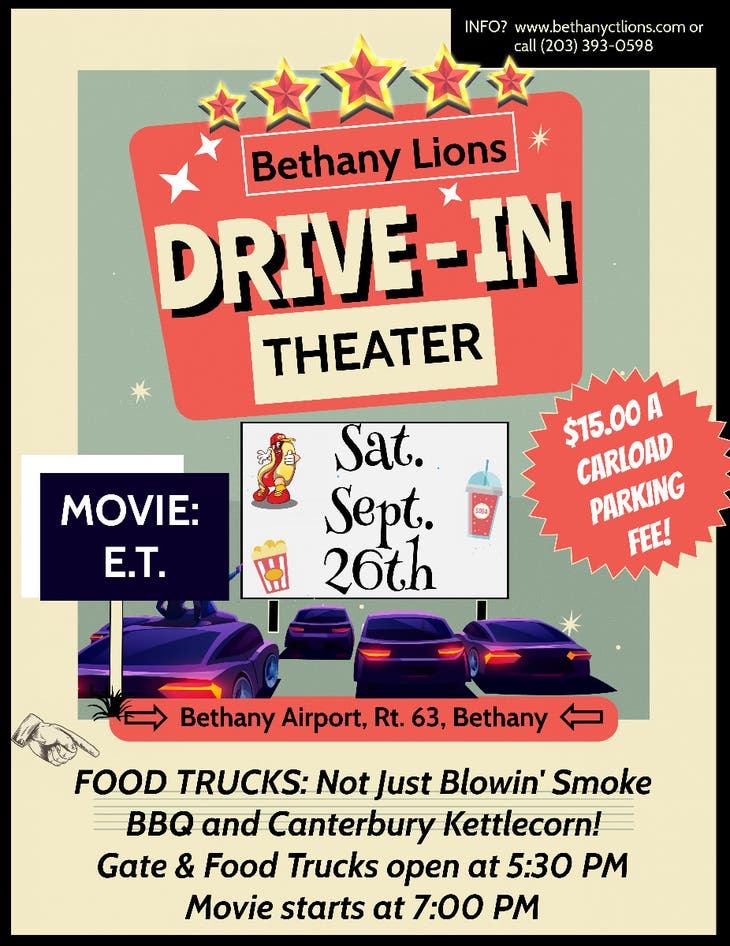Bethany Lions - Drive-In Movie Night! Movie:  E.T.