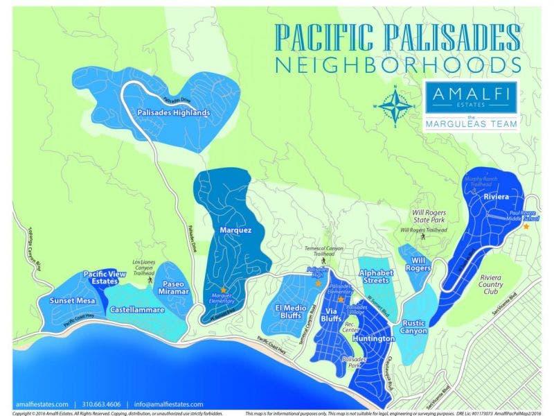 Pacific Palisades California Map Palisades Color Coded Map   Pacific Palisades, CA Patch