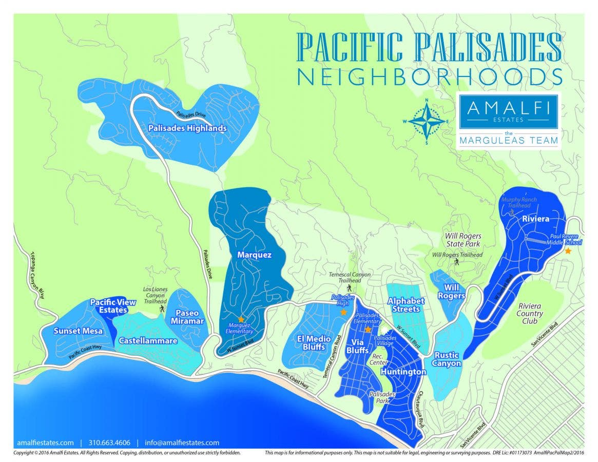 pacific palisades california map Palisades Color Coded Map Pacific Palisades Ca Patch pacific palisades california map