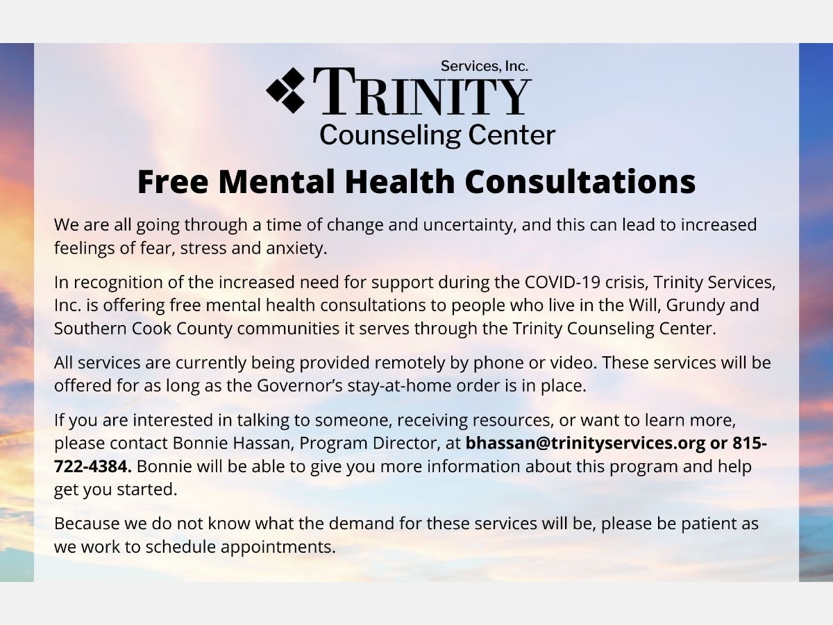 Trinity Counseling Center Offers Free Mental Health Consultations New Lenox Il Patch