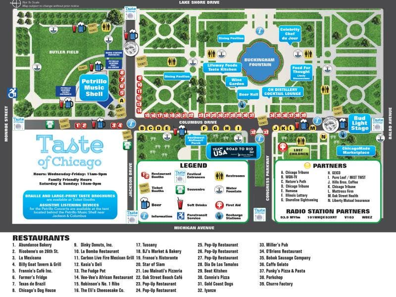 Taste Of Chicago Map Taste of Chicago 2016: Your Complete Guide | Lincoln Park, IL Patch