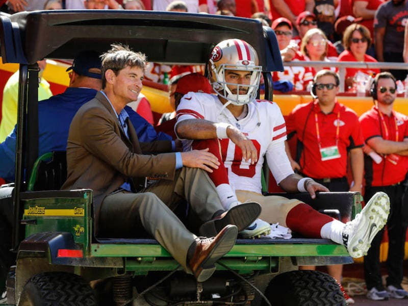 AHeight s Jimmy Garoppolo Out Rest Of 49ers  Season With Torn ACL ... 4fb724901