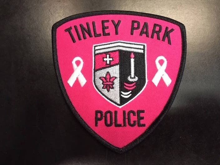 Pink Tinley Park Police Patches Spotlight Breast Cancer Awareness