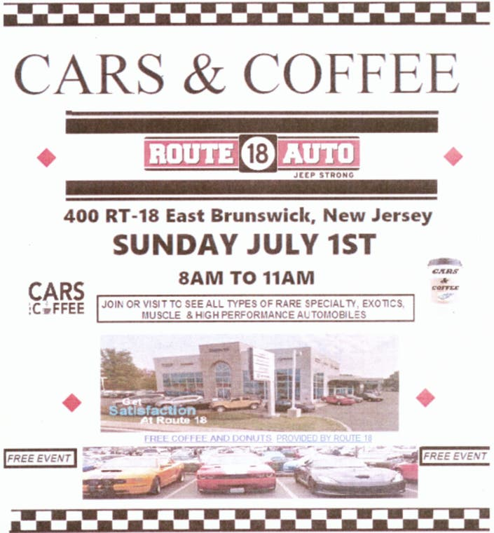 Route 18 Chrysler Jeep Dodge Ram Hosts Cars & Coffee Car