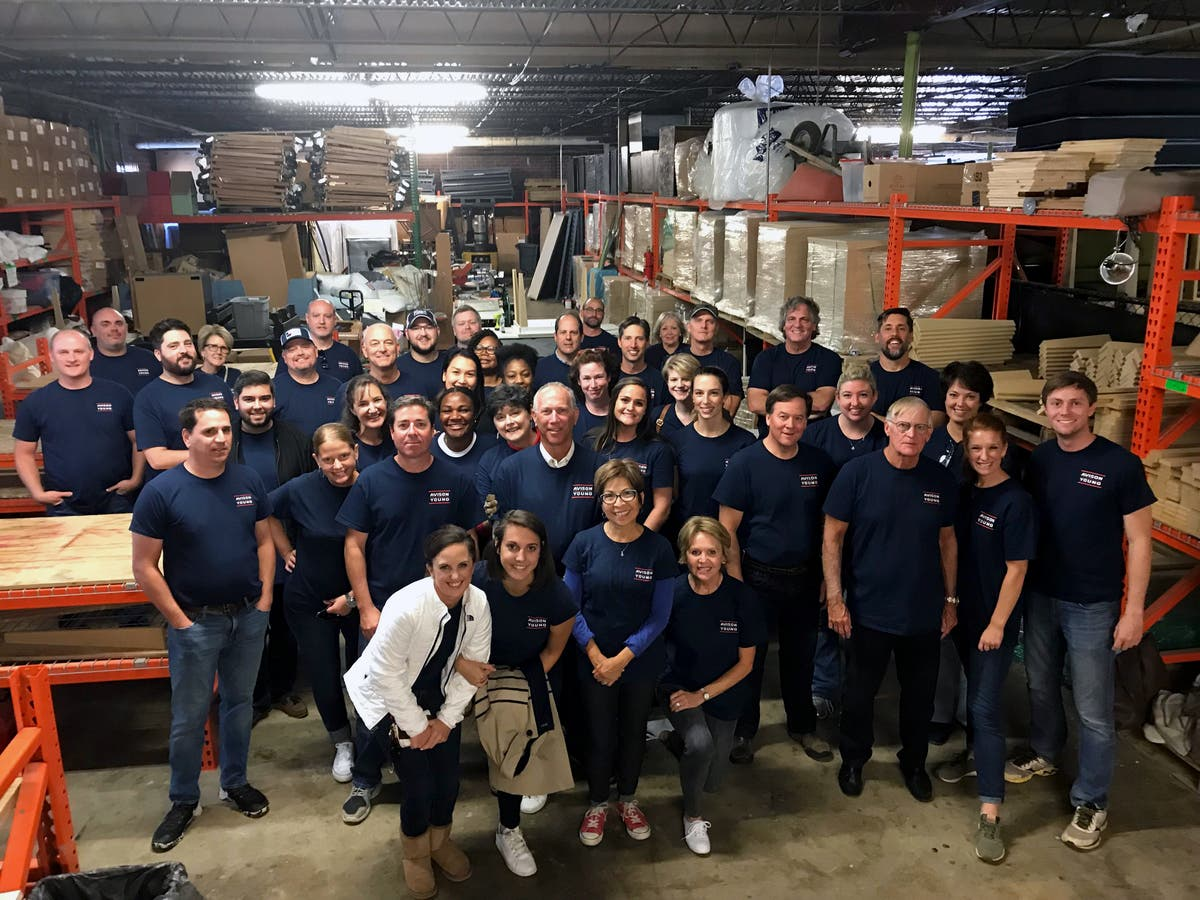 Avison Young S Atlanta Office Builds Tables For Furniture Bank Of