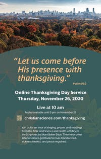 Online Thanksgiving Day Service