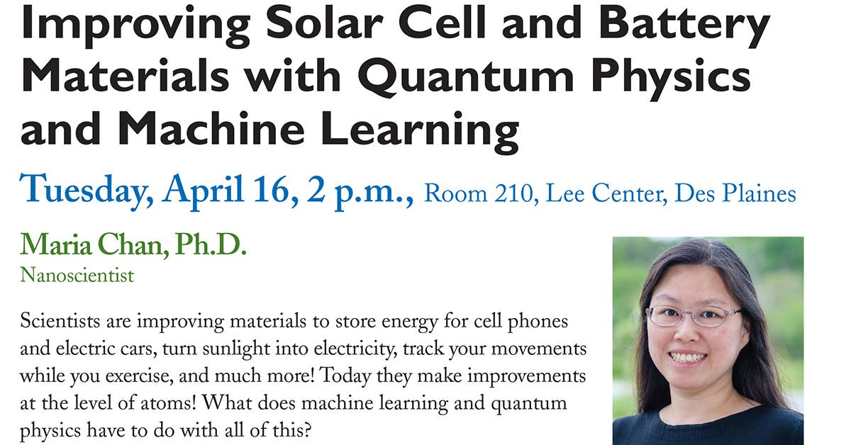 April 16 Oakton STEM event examines machine learning and