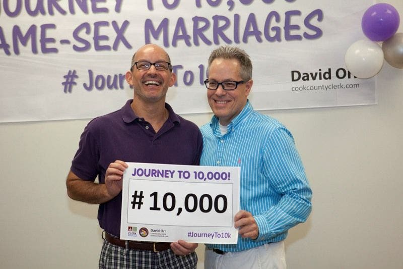 how to get a same sex marriage license illinois in Denton