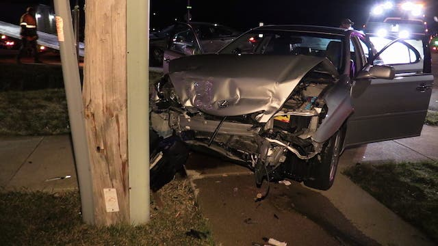 Cars Vs  ComEd Pole Send 3 To Hospital In Unincorporated
