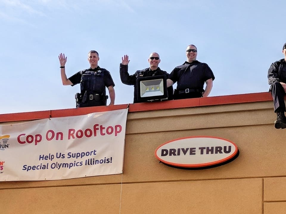 Hickory Hills Cops Stake Out Dd Rooftops For Special Olympics Oak Lawn Il Patch