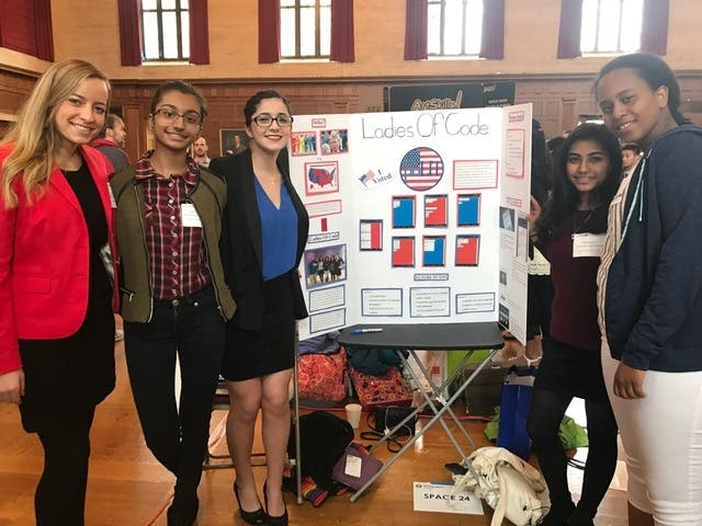 Burlington High School New Team Ladies Of Code Compete In Boston Burlington Ma Patch