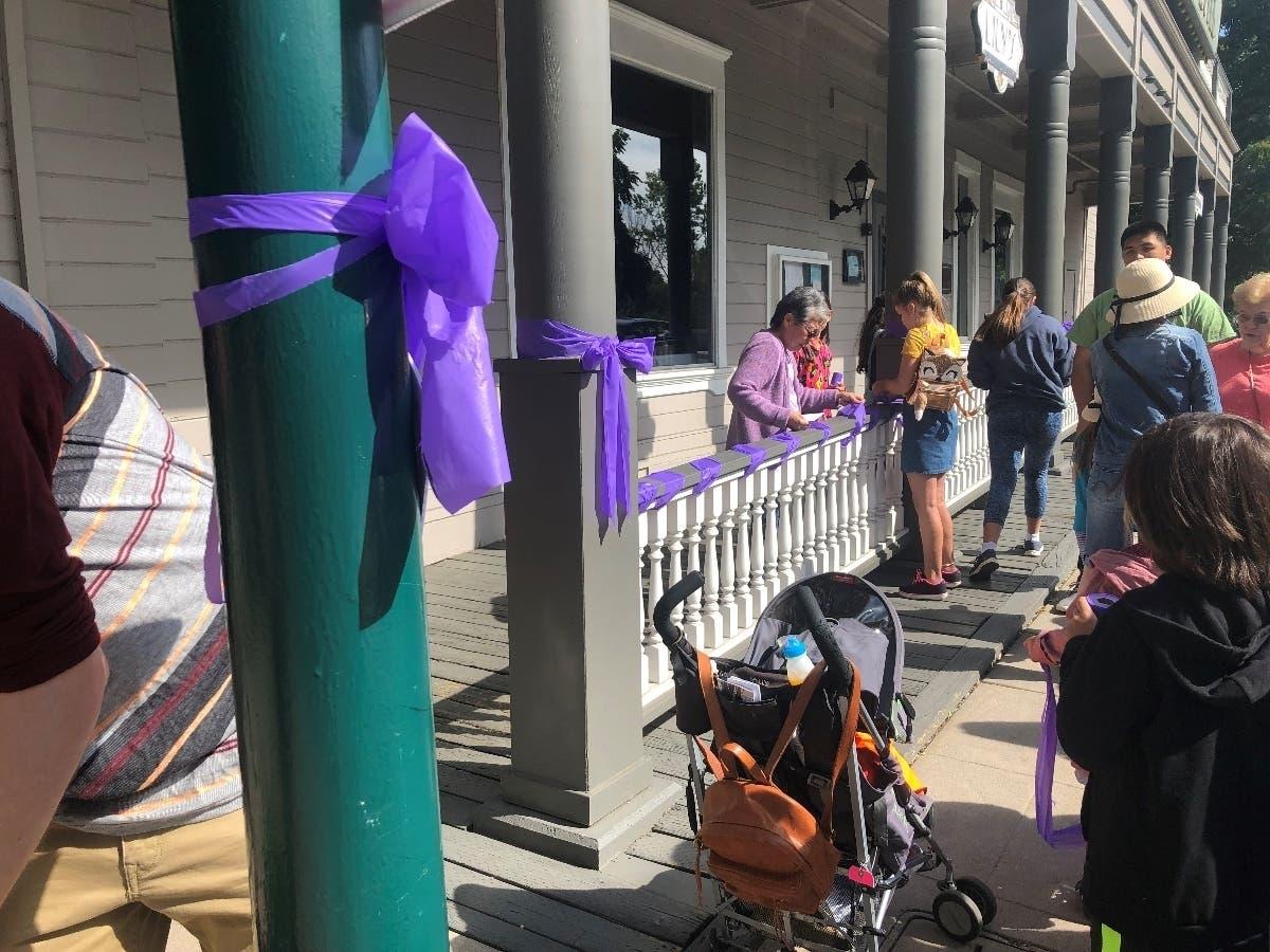 Purple Ribbons in Downtown Pleasanton | Pleasanton, CA Patch